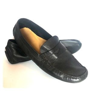 Cole Haan black leather loafers 15 made in India
